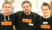 Besteto na Barcampu ve Vsetíně - Jirka Homola, Láďa Přichystal a Mirek Sedlák