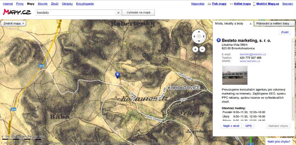 Mapy.cz - historický pohled