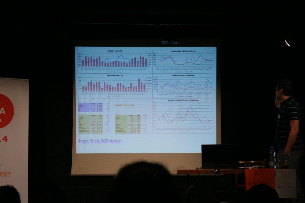 Adamova prezentace byla plná grafů a čísel