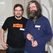 Vladimír Přichystal a Merak Prokop na vsetínském Barcampu