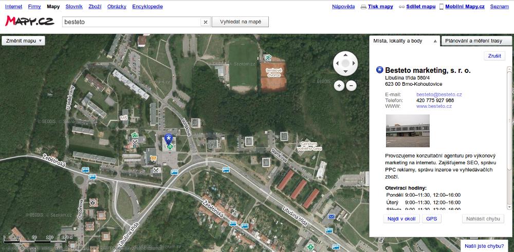 Mapy.cz - letecký pohled 1