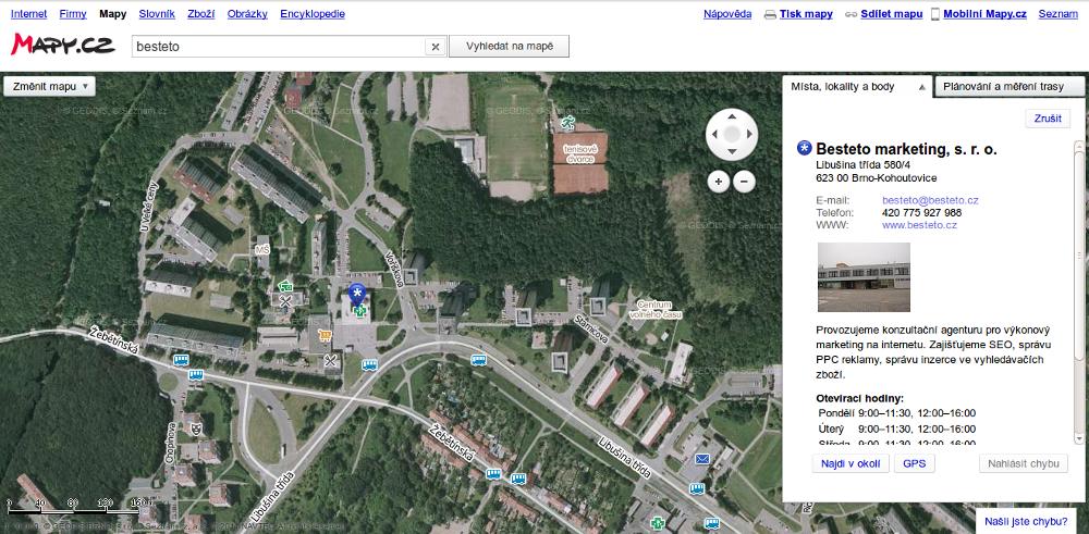 Mapy.cz - letecký pohled 2