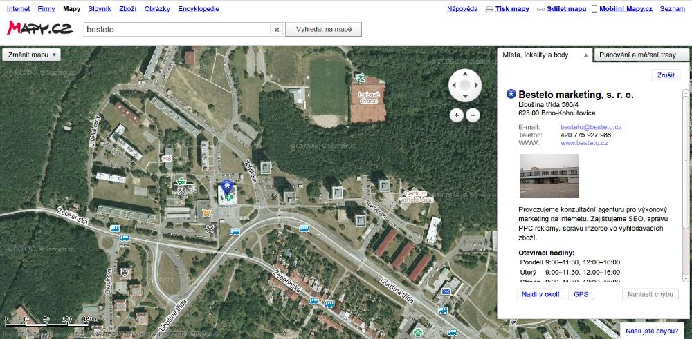 Mapy.cz - letecký pohled 3