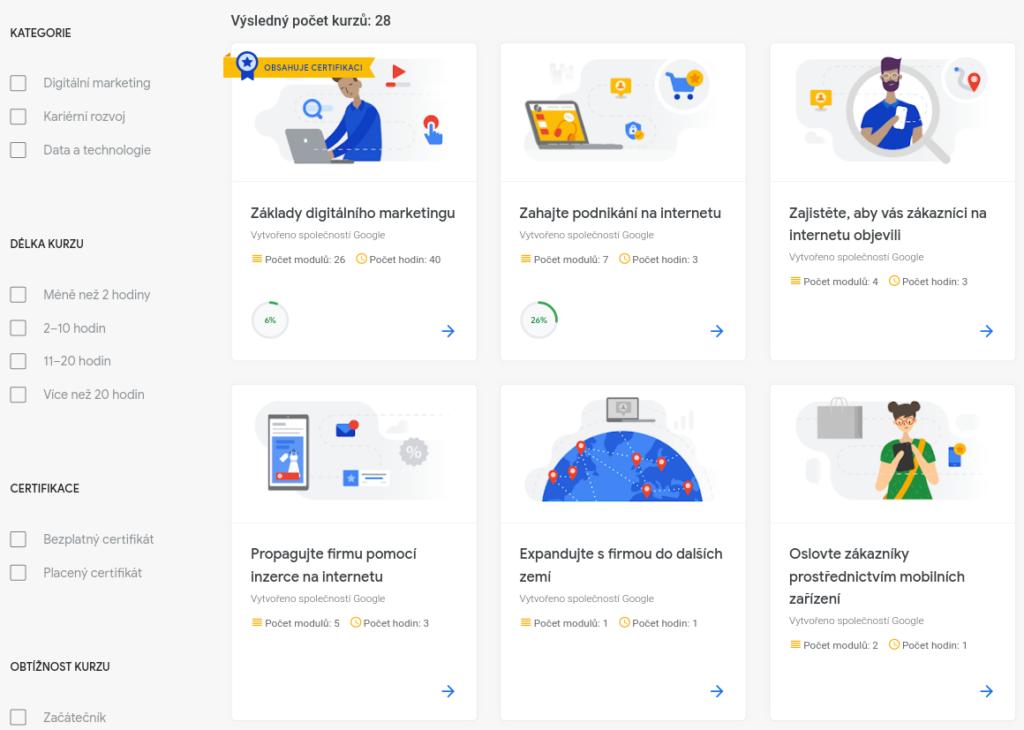 Online marketingové kurzy od Google