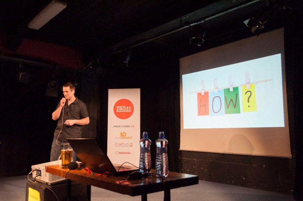 Filip Podstavec z GetFound na konferenci